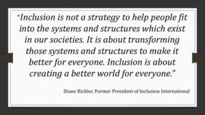 Screenshot of a quote on inclusion