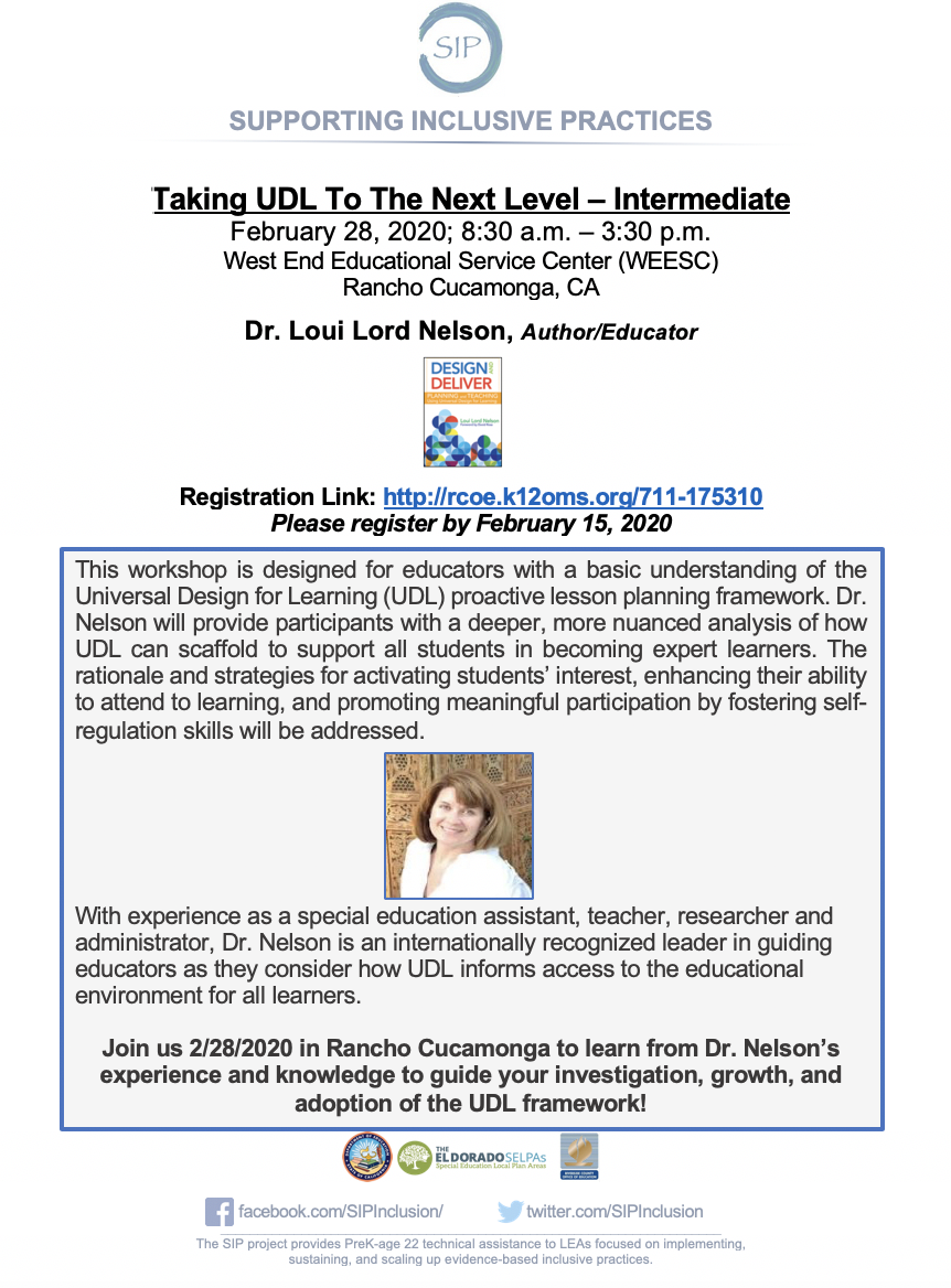 Taking UDL To The Next Level: Intermediate