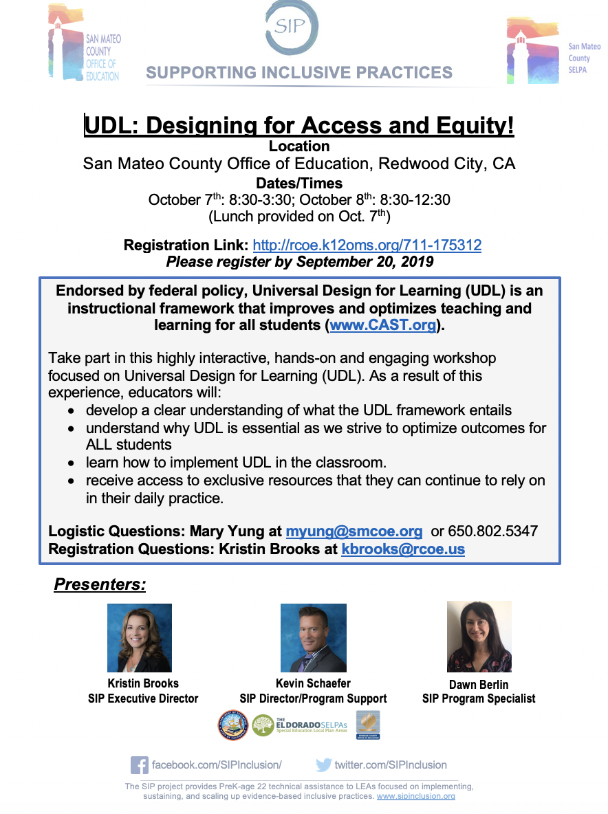 UDL: Designing for Access and Equity