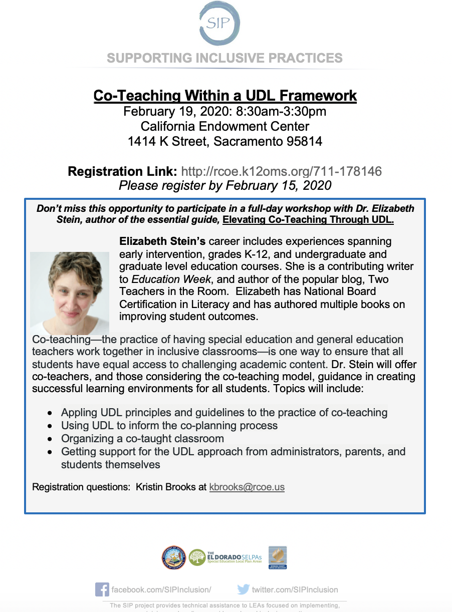 Co-Teaching Within A UDL Framework