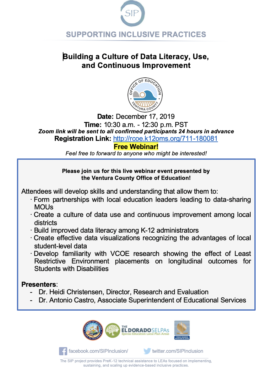 Building A Culture of Literacy, Use, and Continuous Improvement: A Webinar
