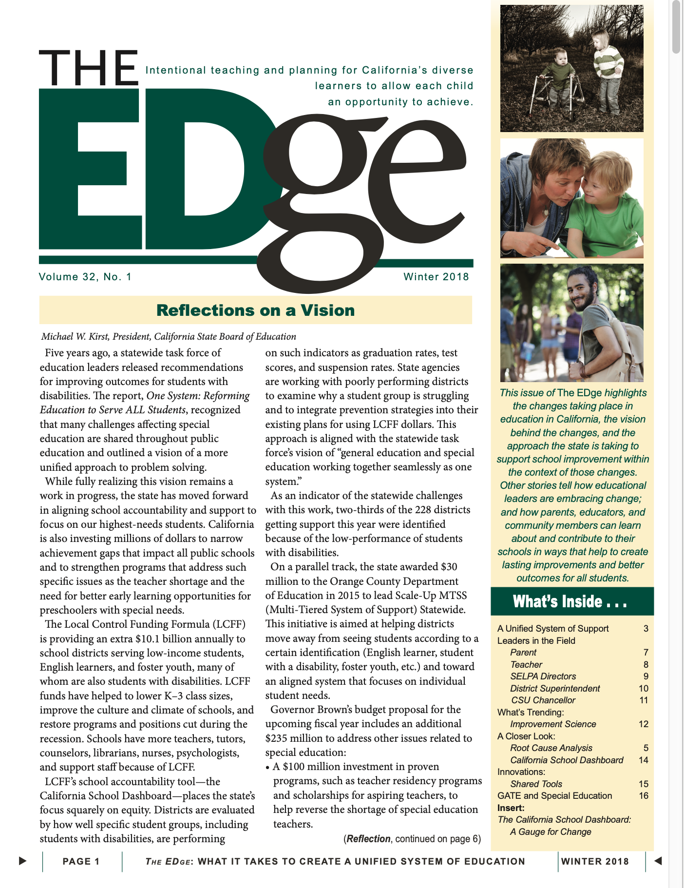 The EDge Newsletter: Winter 2018