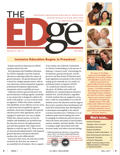 The EDge Newsletter: Fall 2017