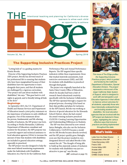 Cover Image of The Edge Newsletter: Spring 2018