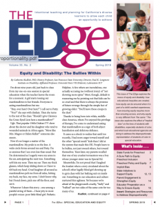 Cover Image of The Edge Newsletter: Spring 2019