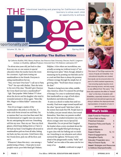 The EDge Newsletter: Spring 2019
