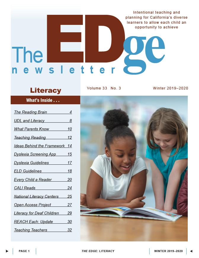 The EDge Newsletter: Winter 2019-20