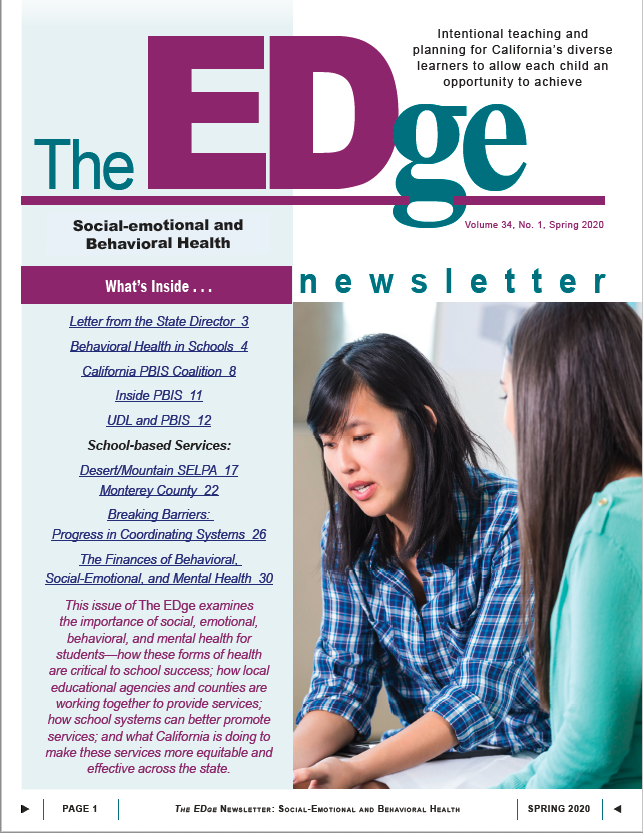 Cover Imagge of The EDge Newsletter: Spring 2020
