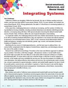 Cover image of Social-emotional, Behavioral, and Mental Health Integrating Systems